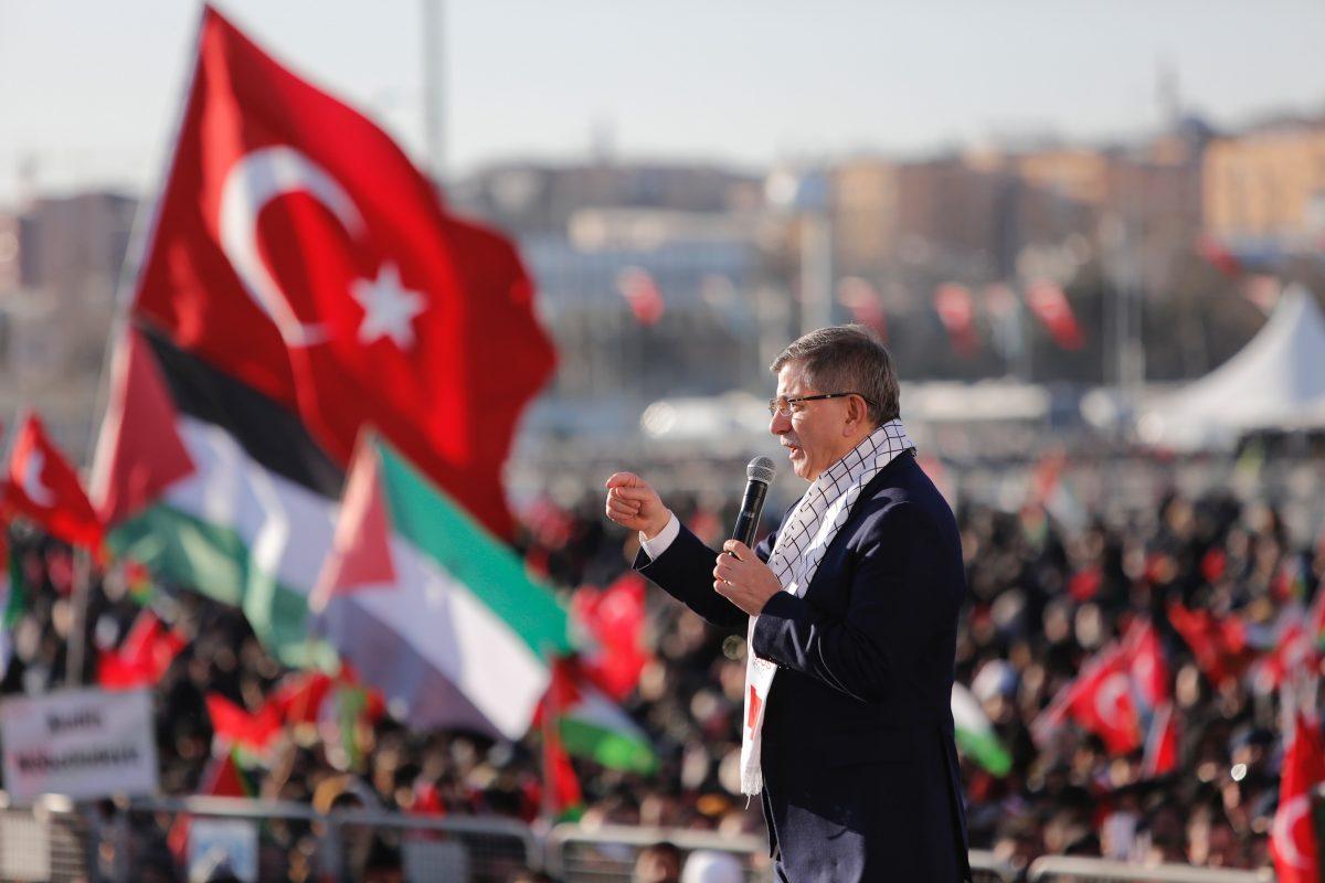Genel Başkanımız Sayın Ahmet Davutoğlu öncülüğünde Büyük Kudüs Mitingi'ne  Katıldık