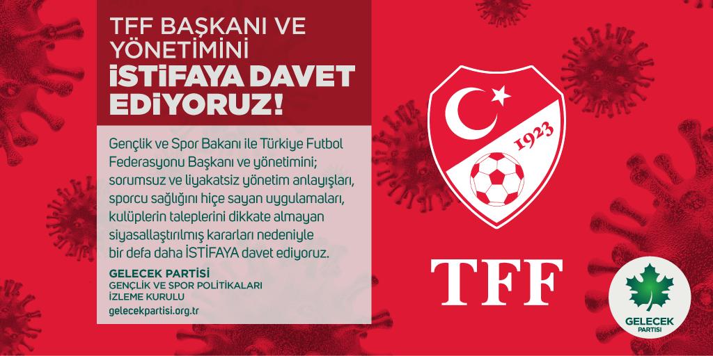 TFF Başkanı ve Yönetimini İstifaya Davet Ediyoruz!