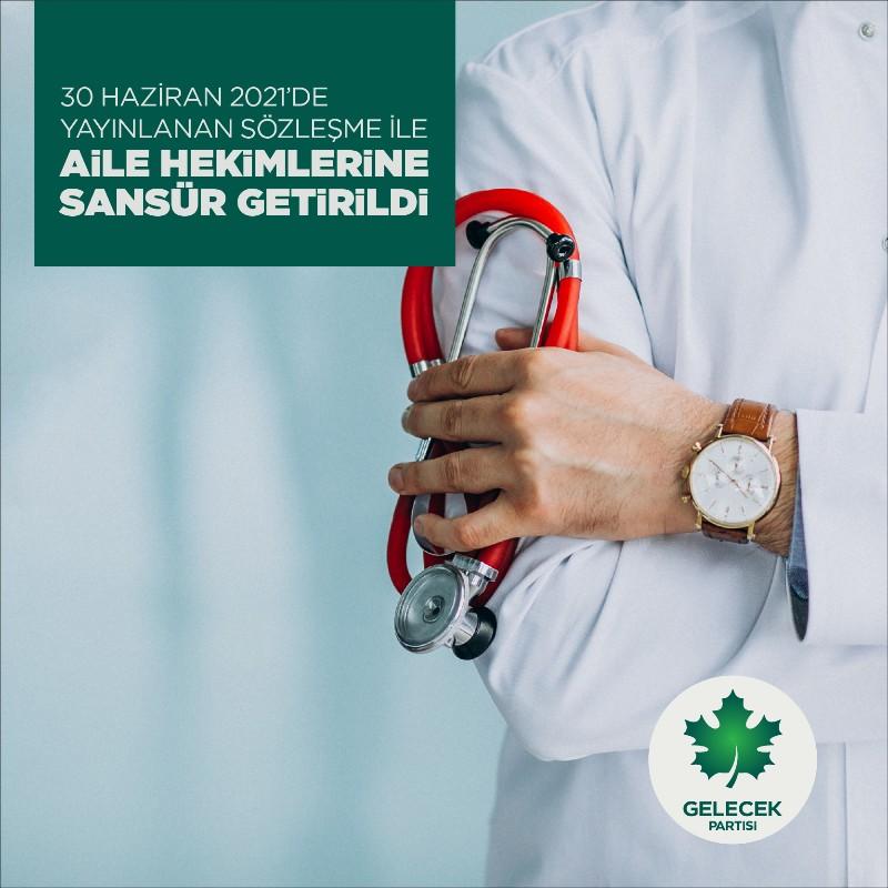 30 Haziran 2021'de Yayınlanan Sözleşme ile Aile Hekimlerine Sansür Getirildi