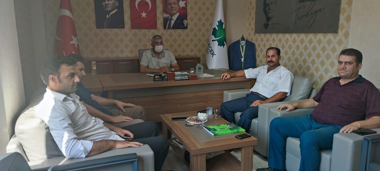 Aşağı İçkara Muhtarı Mehmet Toprak İl Başkanlığımızı ziyaret ettiler