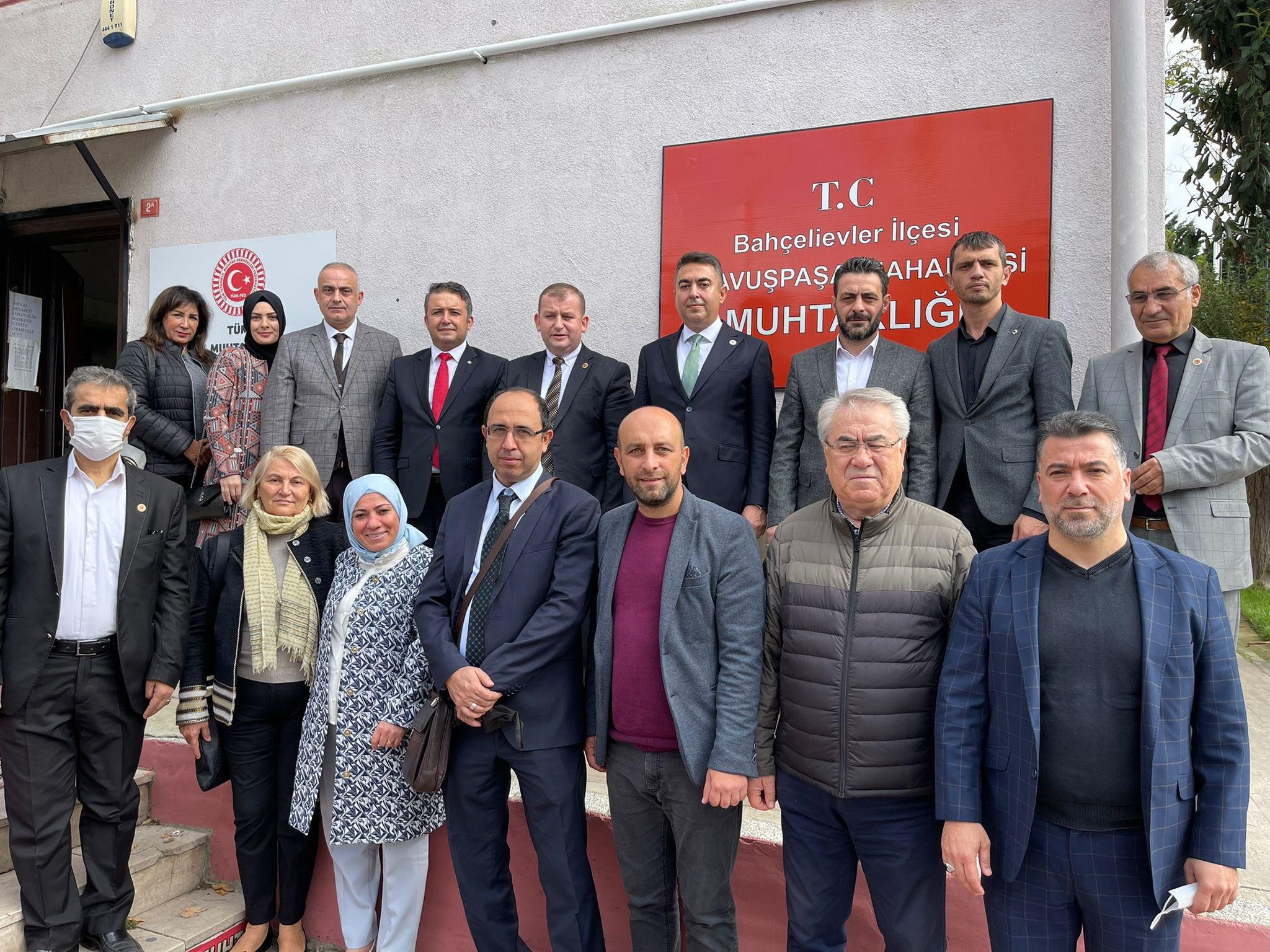 Bahçelievler'de Tüm İstanbul Muhtar Dernekleri Federasyonu Genel Başkanı Sn. Selami Aykut'u ziyaret ettik.