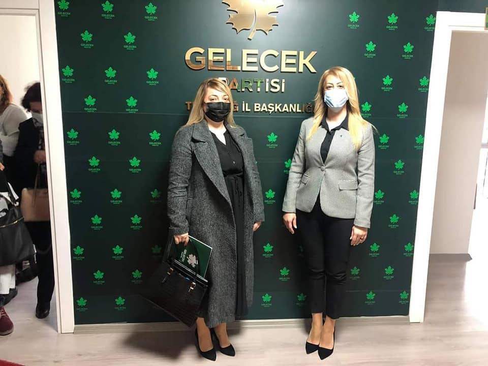 Demokrasi ve Atılım Partisi İl Kadın Kolları Başkanlığından İl Kadın Kolları Başkanlığımıza Ziyaret
