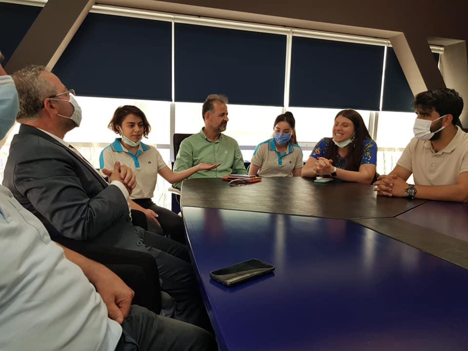 Diyarbakırımızın önemli eğitim merkezlerinden Okyanus Kolejinde Uluslararası başarı elde eden öğrencilerimizi ziyaret ettik.