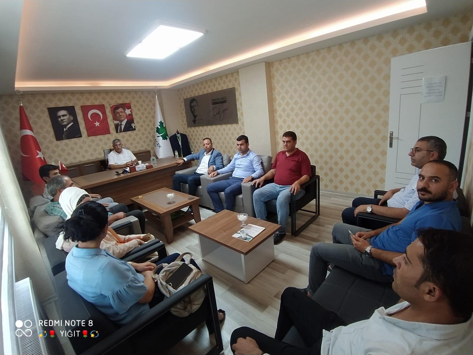 DYP Haliliye ilçe Başkanı Hasan Öztürk, İl Başkanlığımızı ziyaret etti.
