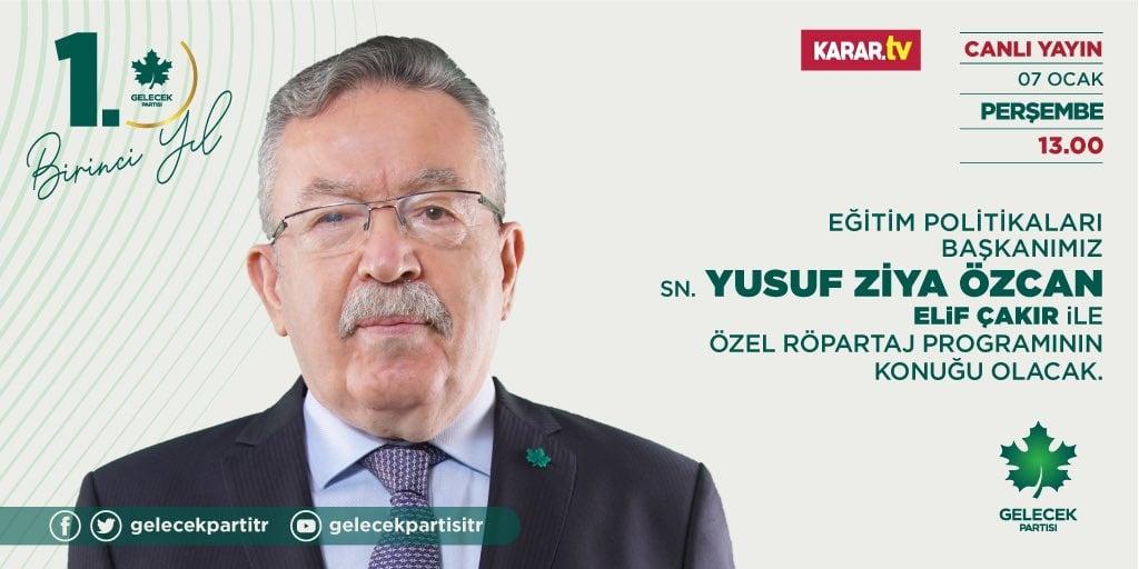 Eğitim Politikaları Başkanımız Sayın Yusuf Ziya Özcan, Karar TVye konuk oldu.