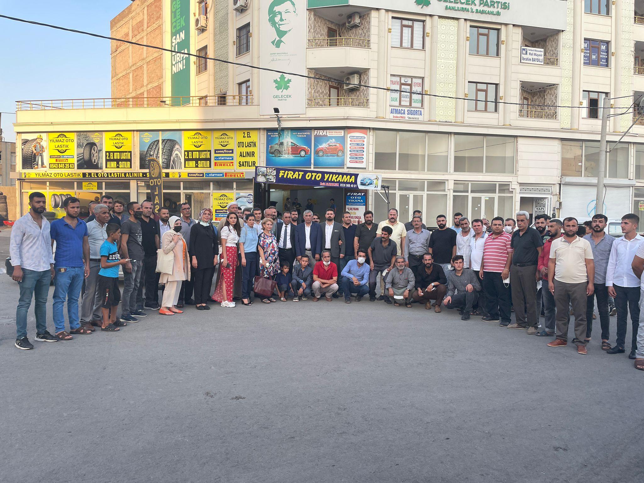 Eyyübiye İlçemizden partimize değişik ailelerden 150 kişilik bir katılım olmuştur.