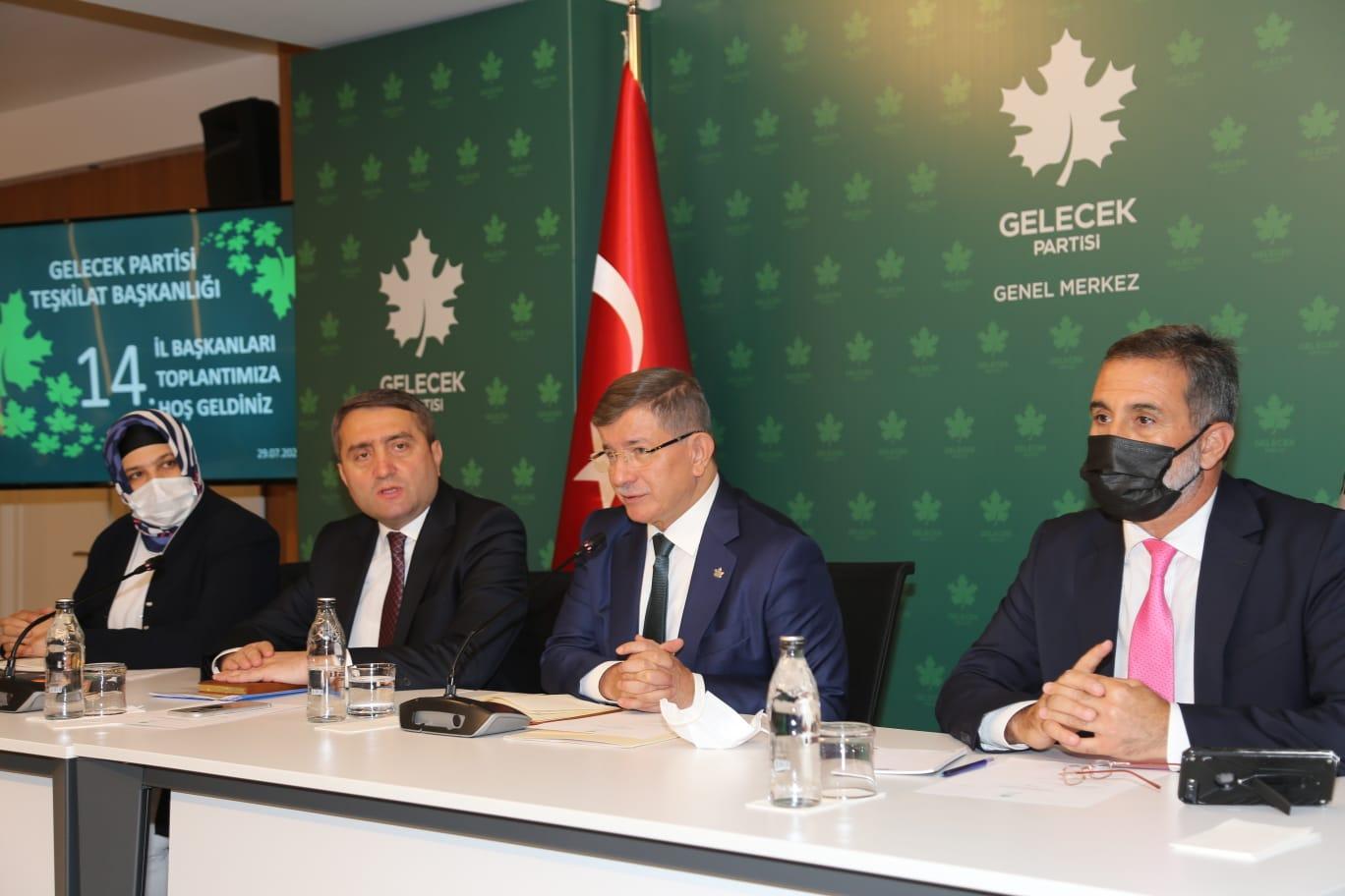 Gelecek Partisi 14. İl Başkanları Toplantısı Genel Merkezde Yapıldı