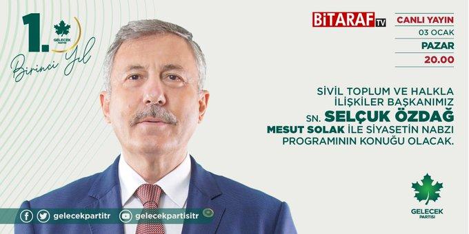 Sivil Toplum ve Halkla İlişkiler Başkanımız Sayın Selçuk Özdağ BiTARAF TV'ye konuk oldu.
