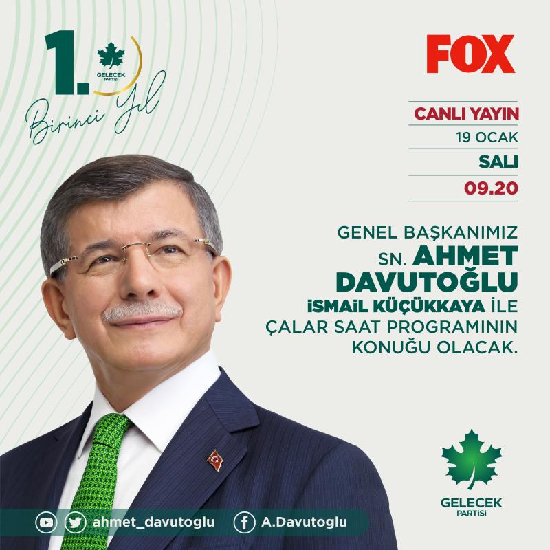 Genel Başkanımız Sayın Ahmet Davutoğlu, Çalar Saat programına konuk oldu.