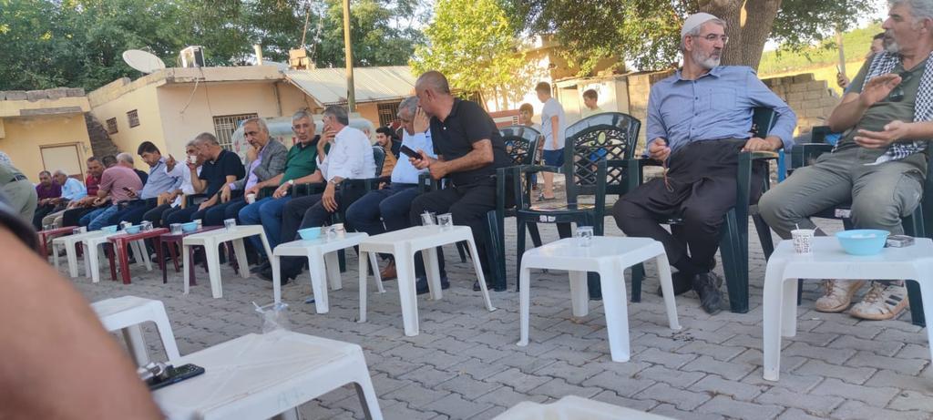 Hilvan'da Vefat eden Ramazan Benzer'in taziyesine katılım sağladık.