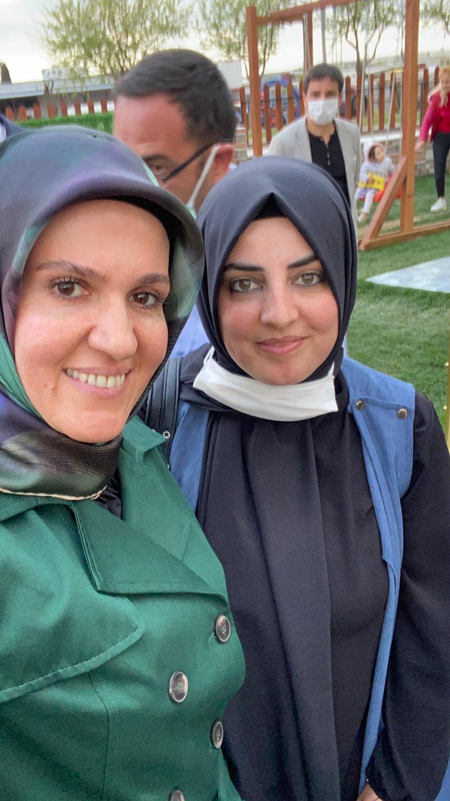 Kadın Politikalarından Sorumlu Genel Başkan Yardımcımız Habibe Çiftçioğlu ve İl Kadın Kolları Başkanımız Dilek Ekşi
