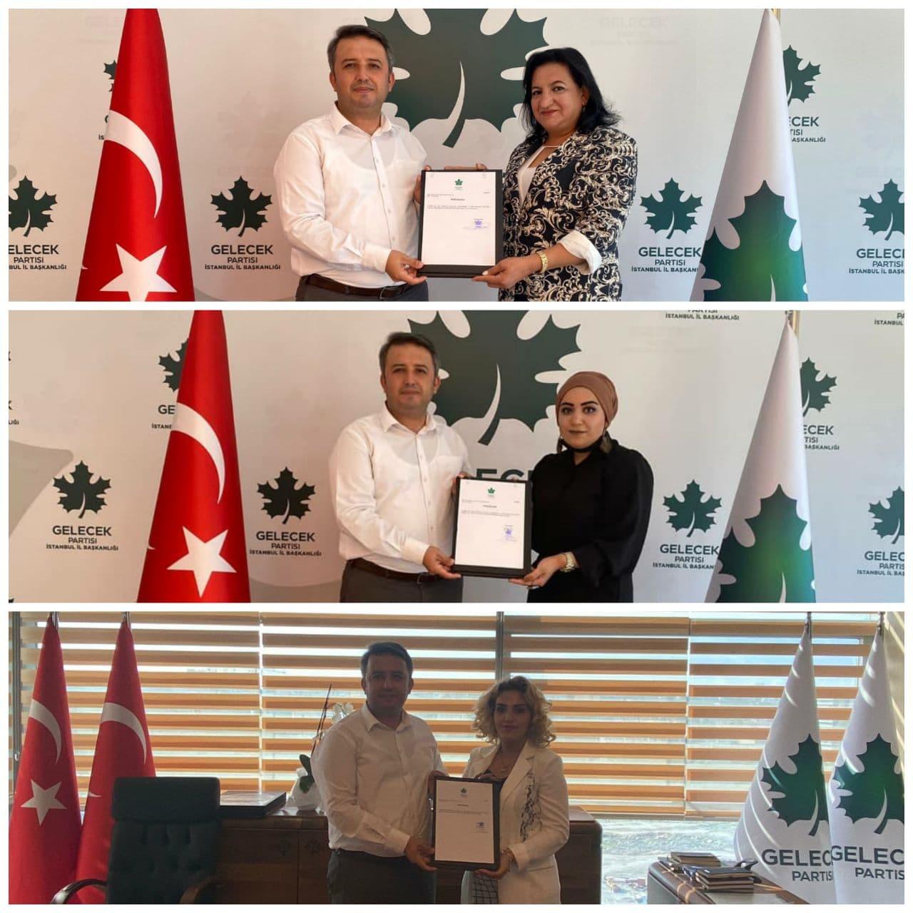 Silivri, Arnavutköy ve Eyüpsultan Kadın Kolları Başkanlarımızın atamaları gerçekleştirildi