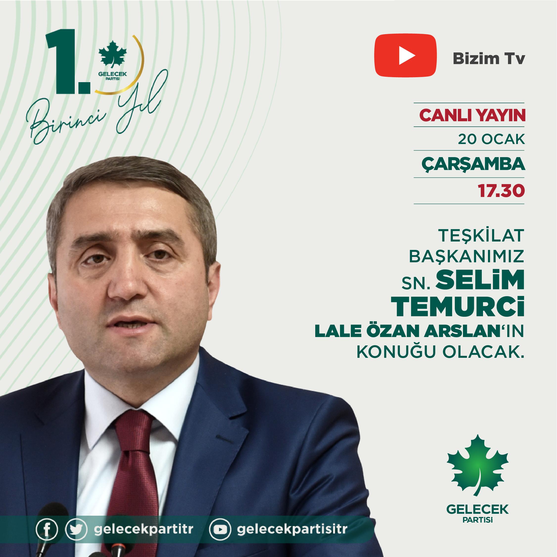 Teşkilat Başkanımız Sayın Selim Temurci, Bizim TV'ye konuk oldu