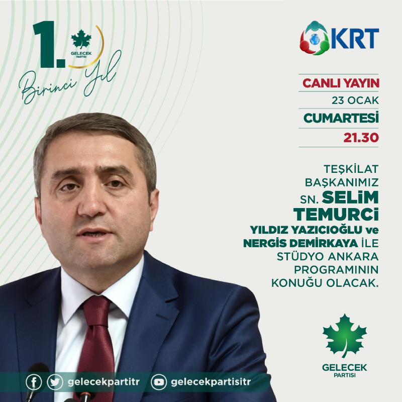 Teşkilat Başkanımız Sayın Selim Temurci, KRT TV'ye konuk oldu