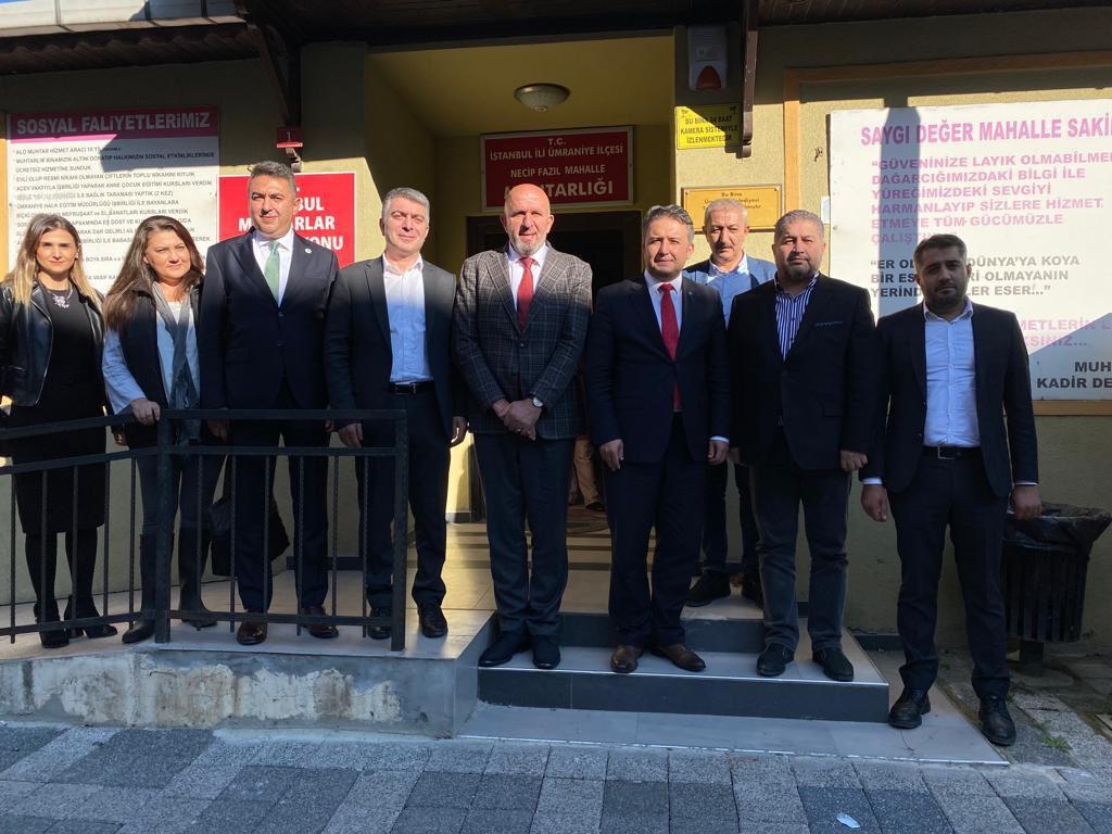 Ümraniye'de İstanbul Muhtarlar Federasyonu Genel Başkanı Sn. Kadir Delibalta'yı ziyaret ettik.