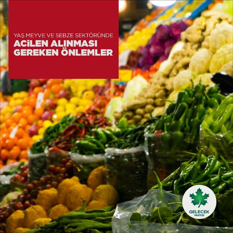Yaş Meyve ve Sebze Sektöründe Acilen Alınması Gereken Önlemler