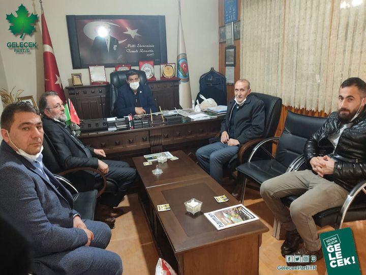 Ziraat odası başkanı Sayın Abuzer Yıldırımtepeyi makamında ziyaret ettik.