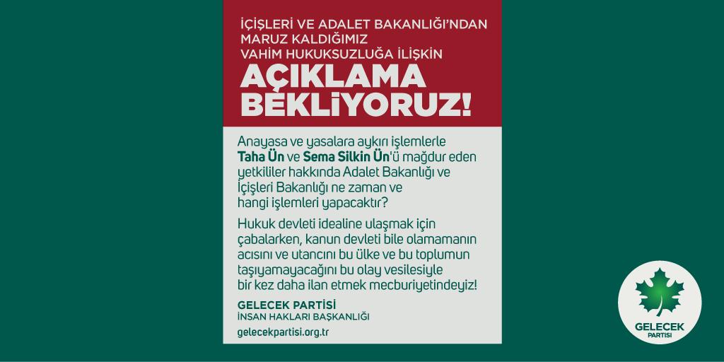 İçişleri ve Adalet Bakanlığı'ndan Maruz Kaldığımız Vahim Hukuksuzluğa İlişkin Açıklama Bekliyoruz!